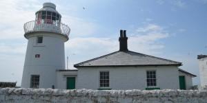Haus auf Farne Islands