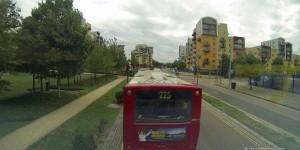 Busfahrt durch Greenwich
