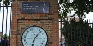 Uhr am Observatorium in Greenwich