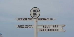 Schild mit Hinweis auf John o Groats
