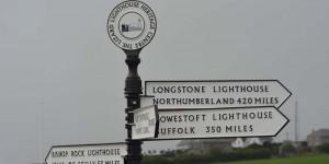 Schild am Leuchturm von Lizard Point
