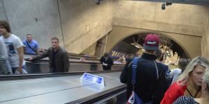 Rolltreppe zur Tube