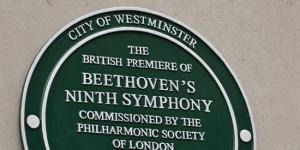 Britische Uraufführung von Beethovens Neunte