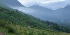 Morgennebel in Schottland