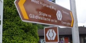 Schild für den West Highland Way