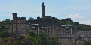 Blick über die schottische Stadt