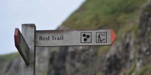 Wanderweg an der Küste