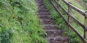 Stufen an der Steilküste