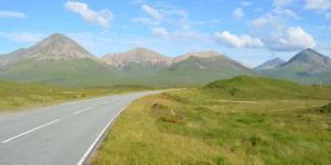 Straße auf die Isle of Skye