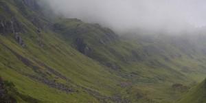 Landschaft am Quiraing auf der Isle of Skye