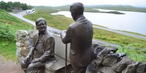 Skulpturen am Knockan Crag