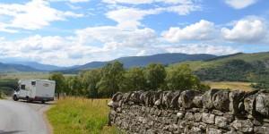 Am geografischen Mittelpunkt von Schottland