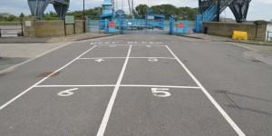 Einparken vor der Schwebefähre