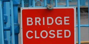 Brücke geschlossen