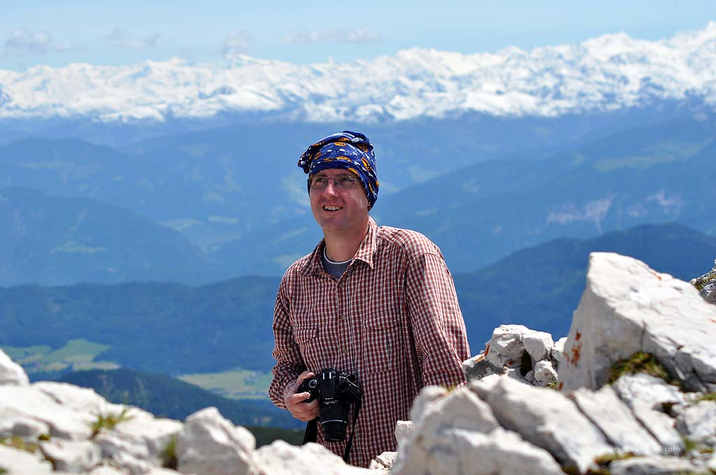 Michael Moll in den Alpen