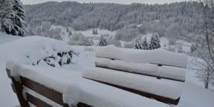 Schnee beim Wandern