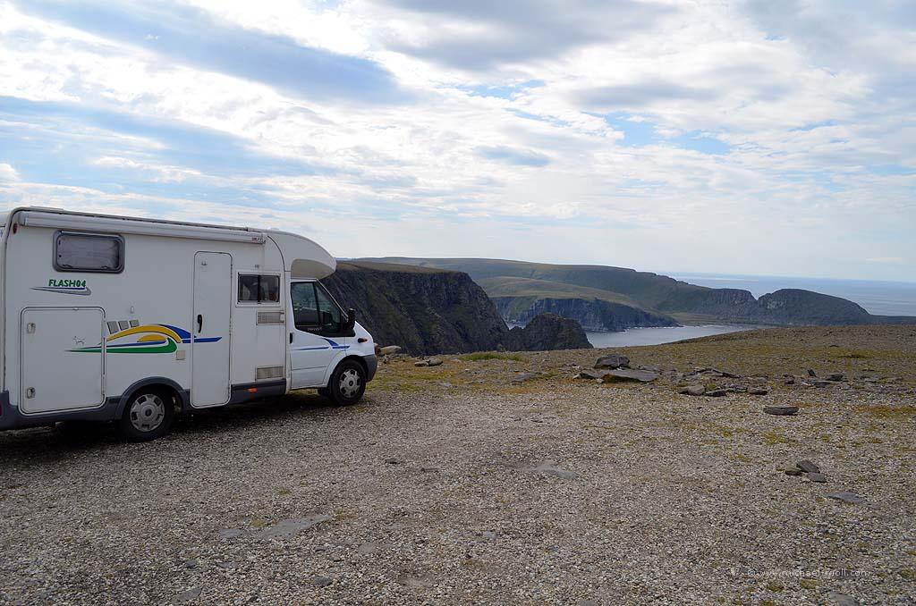 Wohnmobil am Nordkap