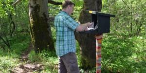 Guerilla Knitting an der Harzer Wandernadel