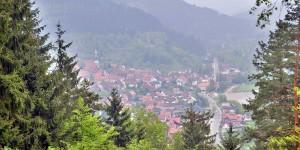 Aussicht auf ein Dorf im Harz