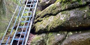 Felsbesteigung im Harz