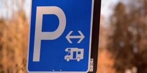 Parkplatz für Wohnmobile