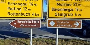 Romantische Straße und Alpenstraße
