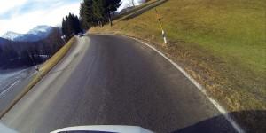 Fahrt auf der Rossfeldpanoramastraße