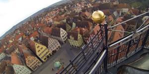 Blick vom Rathausdach