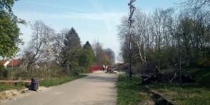 Alte Bahnanlagen weisen auf die Vergangenheit hin