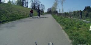 Breiter Radweg auf der Rheinischen Bahn