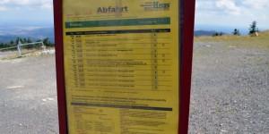 Fahrplan der Brockenbahn