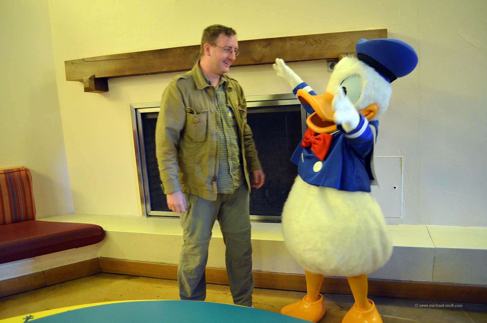 Glücklich mit Donald