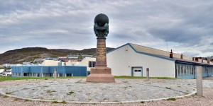 Meridiansäule in Hammerfest