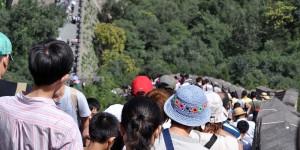 Menschen auf der Chinesischen Mauer