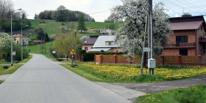Polnisches Dorf im Karpatenvorland