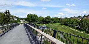 Brücke an der Emscherpromenade