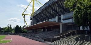 Tribüne vom Stadion Rote Erde direkt neben dem Signal-Iduna-Park