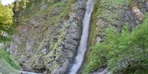 Wasserfall am Ende der Klamm