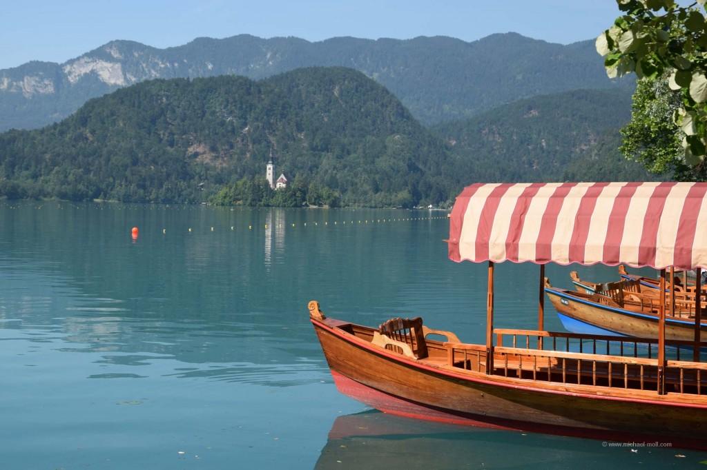 Schiffe auf dem Bleder See