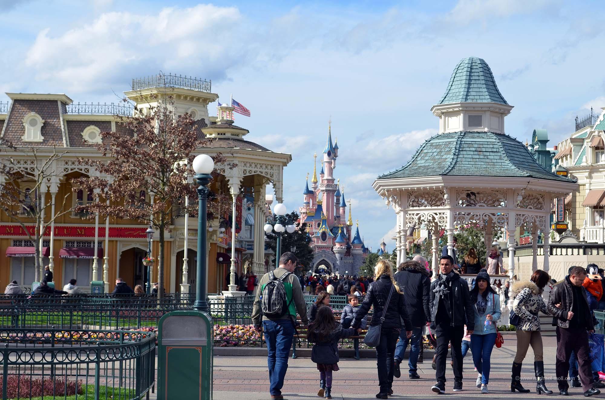 Pavillon am Anfang der Main Street