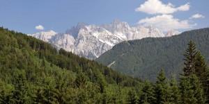 Immer wieder Ausblicke nach Slowenien