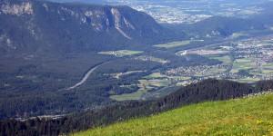 Ausblick nach Österreich