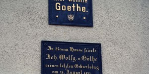 Hier wohnte Goethe