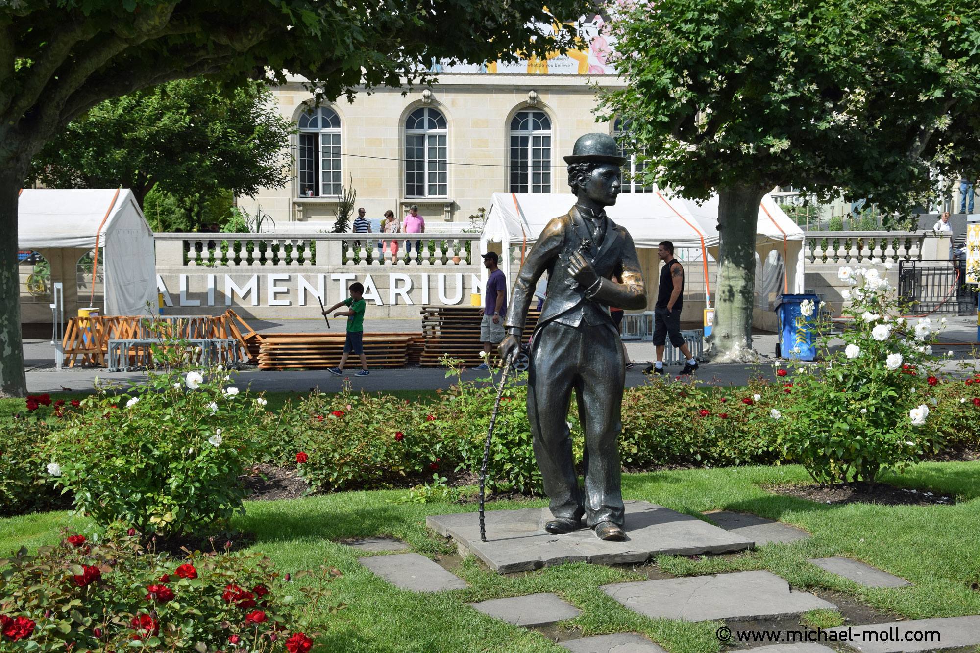 Charlie Chaplin am Genfer See