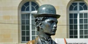 Charlie Chaplin-Skulptur
