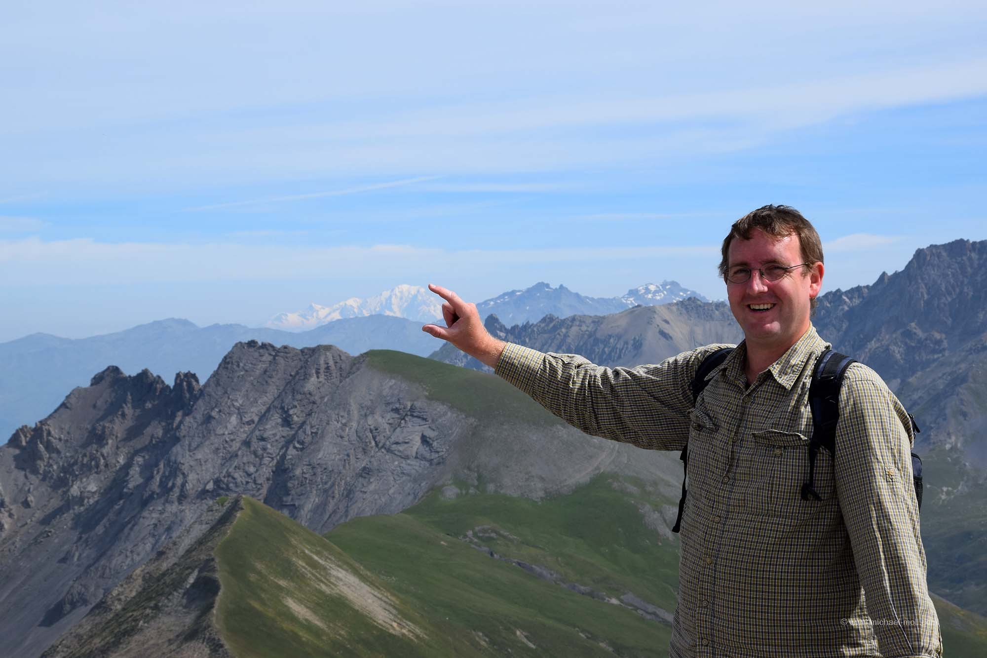 Ich halte den Mont Blanc