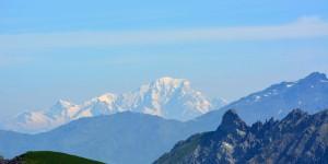 Mont Blanc in 92 km Entfernung