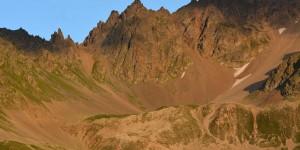 Berge am Pass