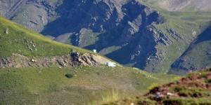 Wohnmobil auf dem Weg zum Col du Galibier