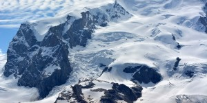 Gletscher an der Dufourspitze